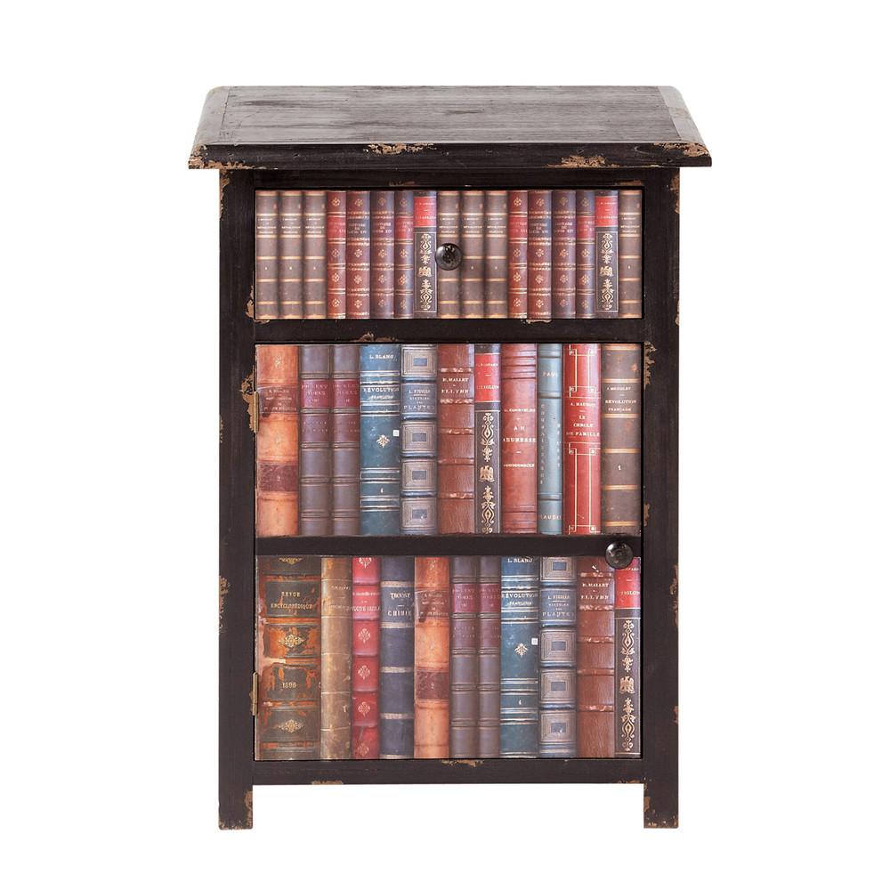 Mesilla de noche impresi n libros libraire libraire - Mesillas de noche maison du monde ...