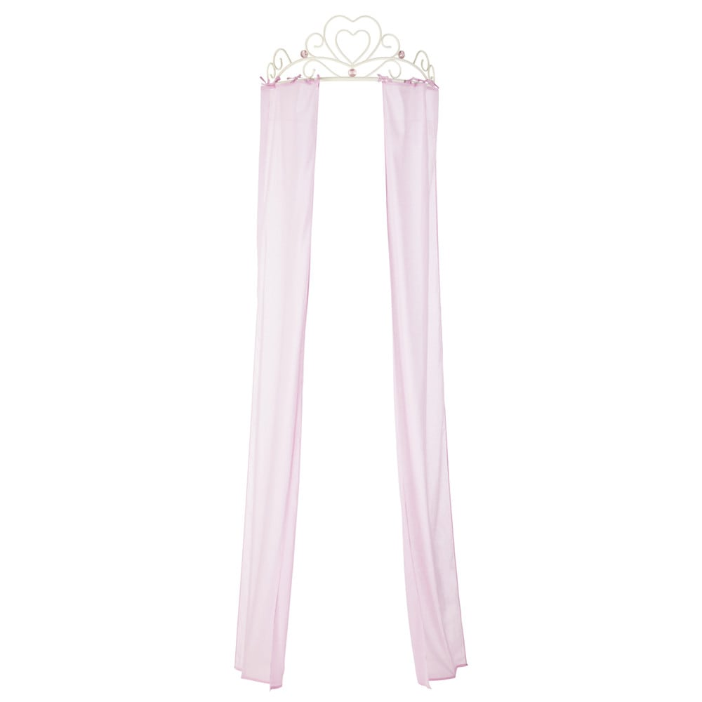 metal and cotton childs bed canopy in pink w 70cm - Maison Du Monde Ballerina