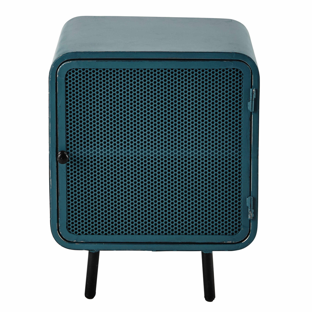Metal Bedside Table In Blue W 44cm Knokke Maisons Du Monde
