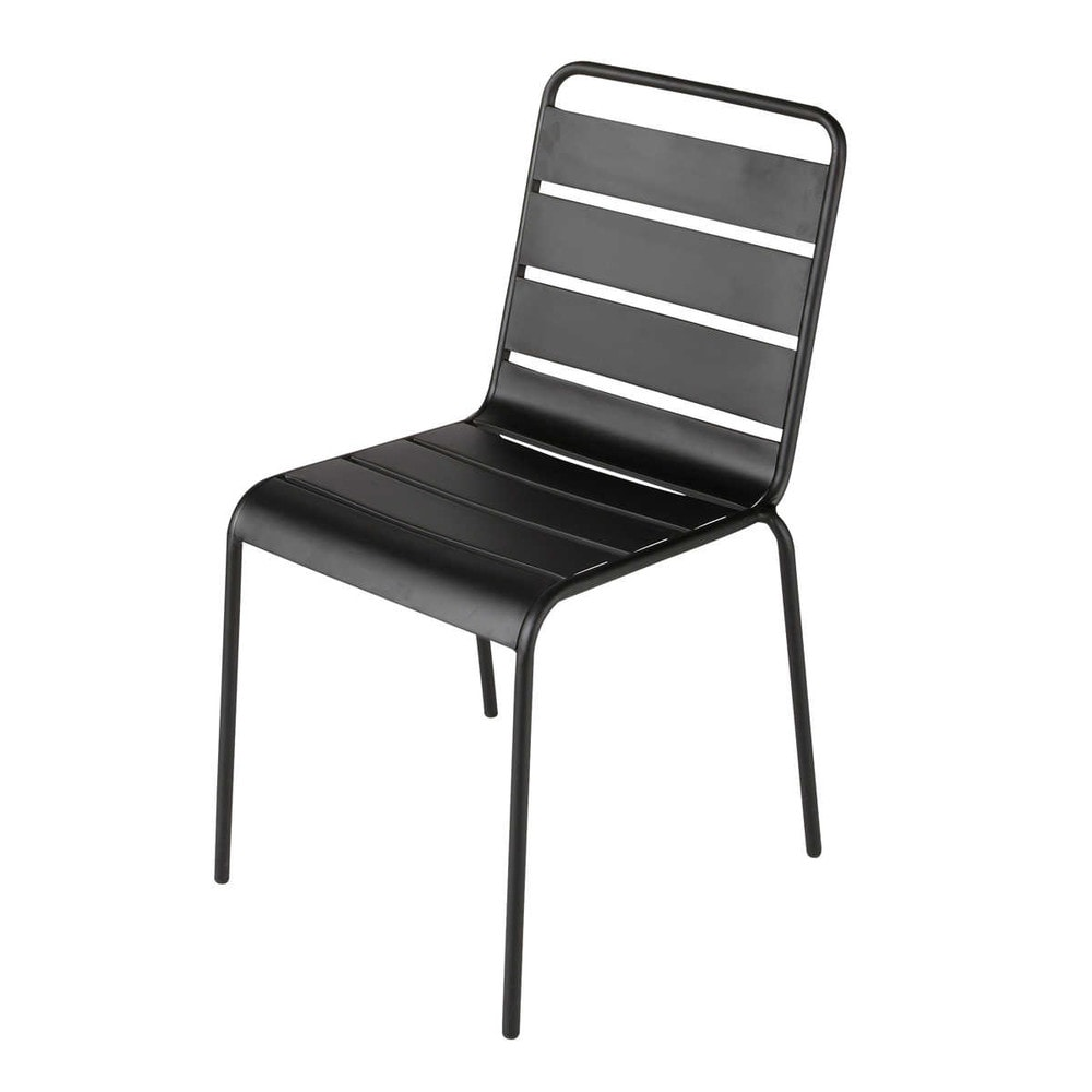 Metal garden chair in black Batignoles