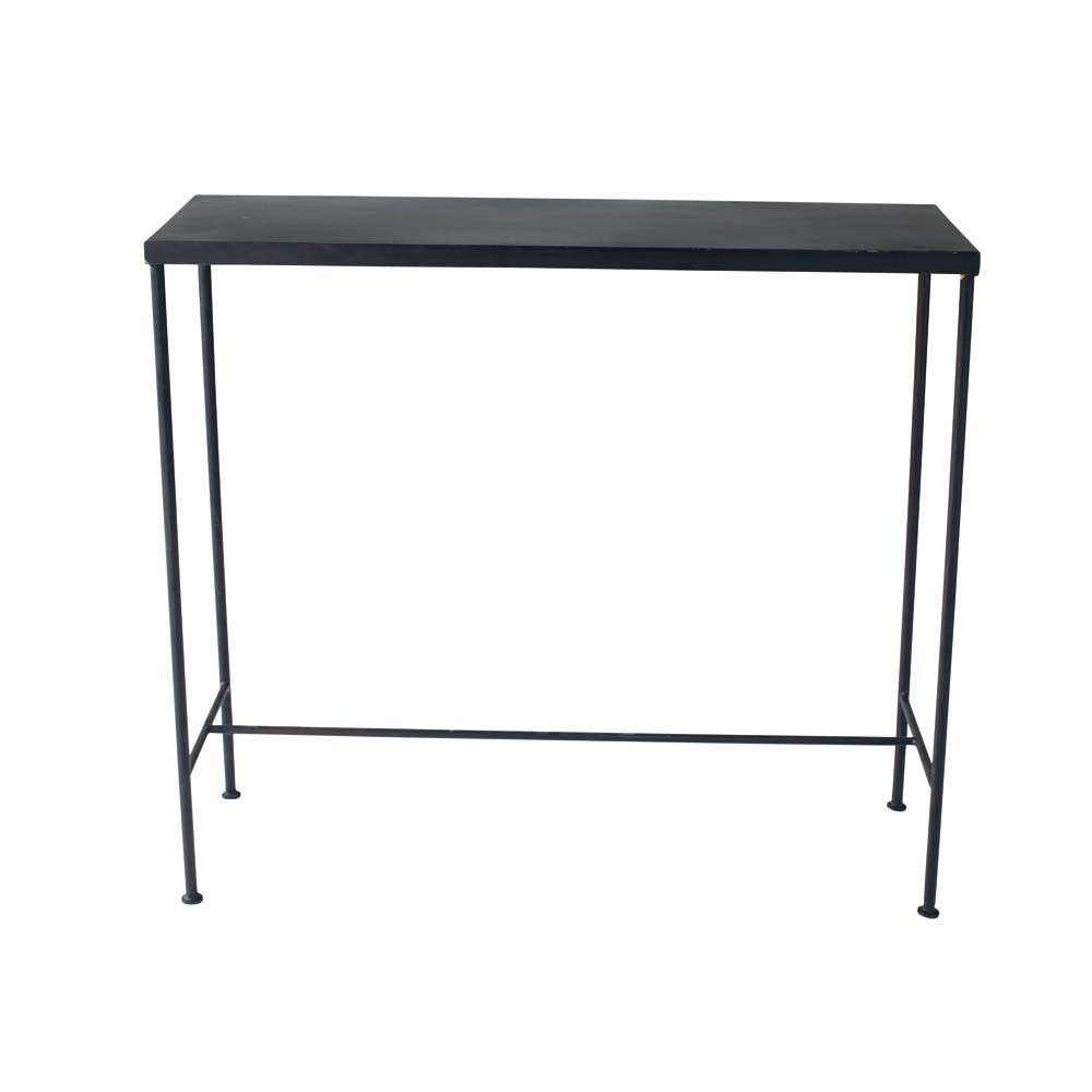 metal industrial console table in black w 90cm edison. Black Bedroom Furniture Sets. Home Design Ideas