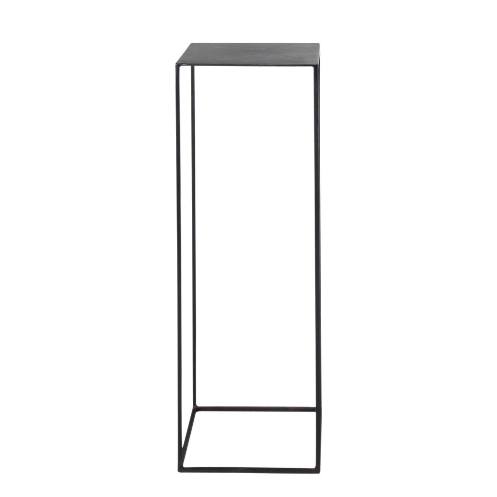 metal industrial pedestal in black w 30cm edison maisons. Black Bedroom Furniture Sets. Home Design Ideas