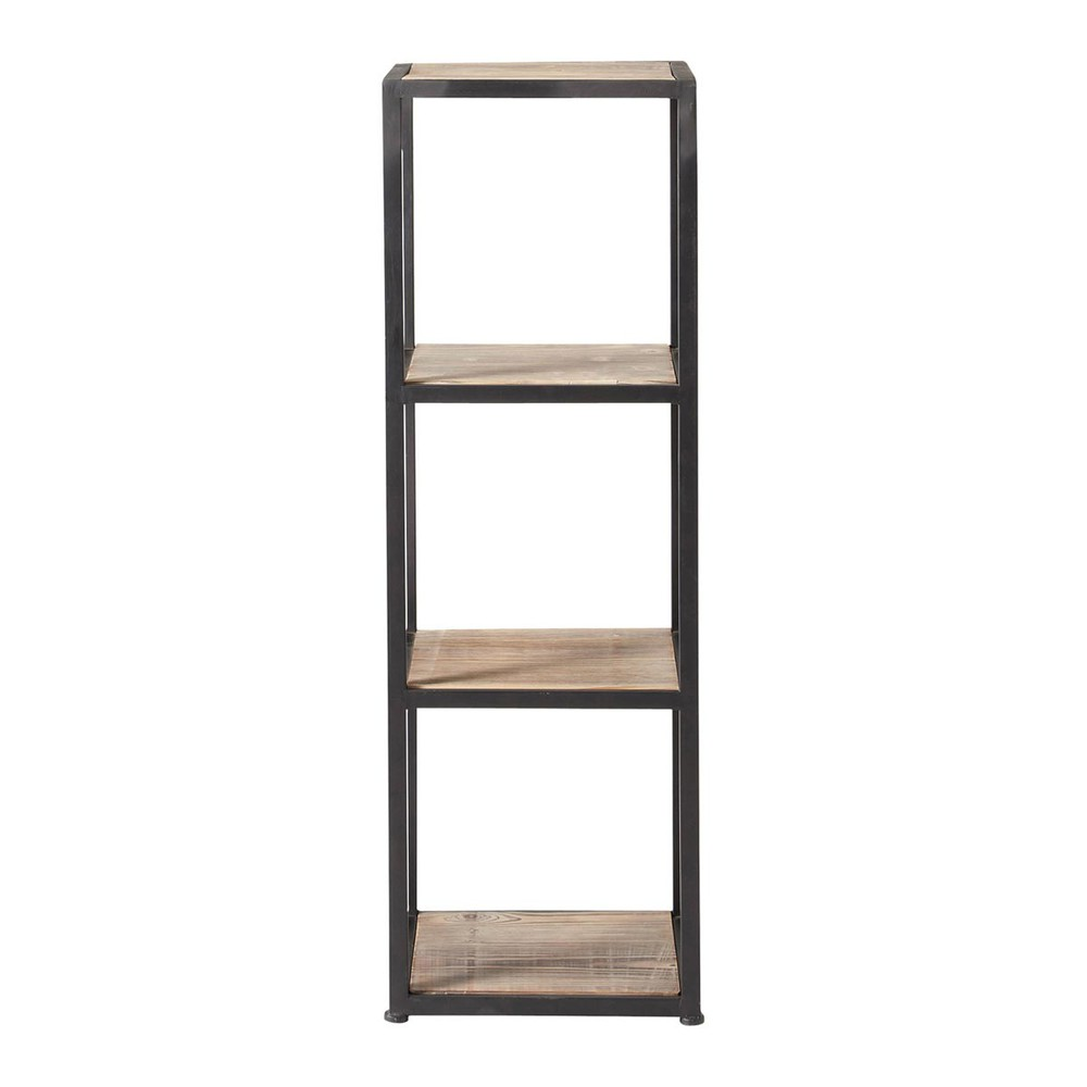 metal industrial shelf tower unit in black h 110cm long island maisons du monde. Black Bedroom Furniture Sets. Home Design Ideas
