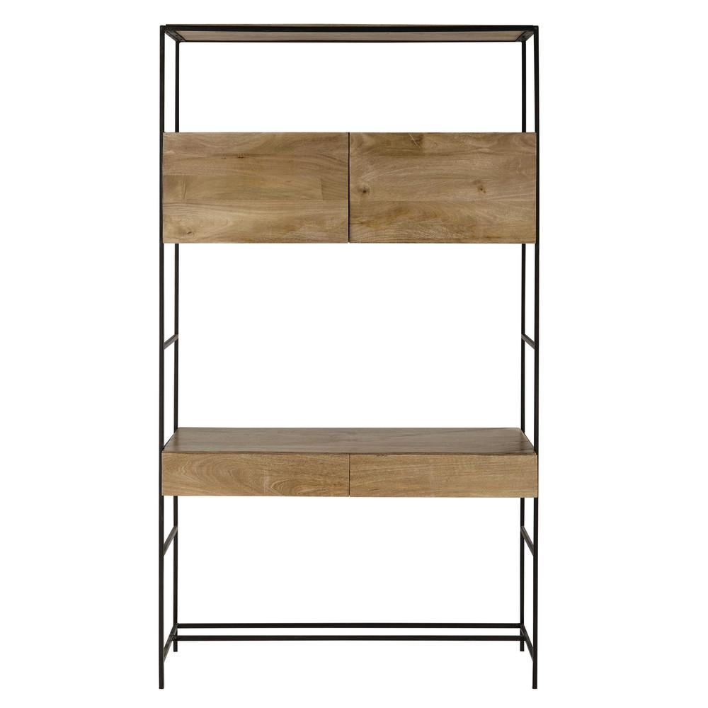 Metalen bureau hoog model zwart breedte 120 cm wilson maisons du monde - Jongens kamer model ...