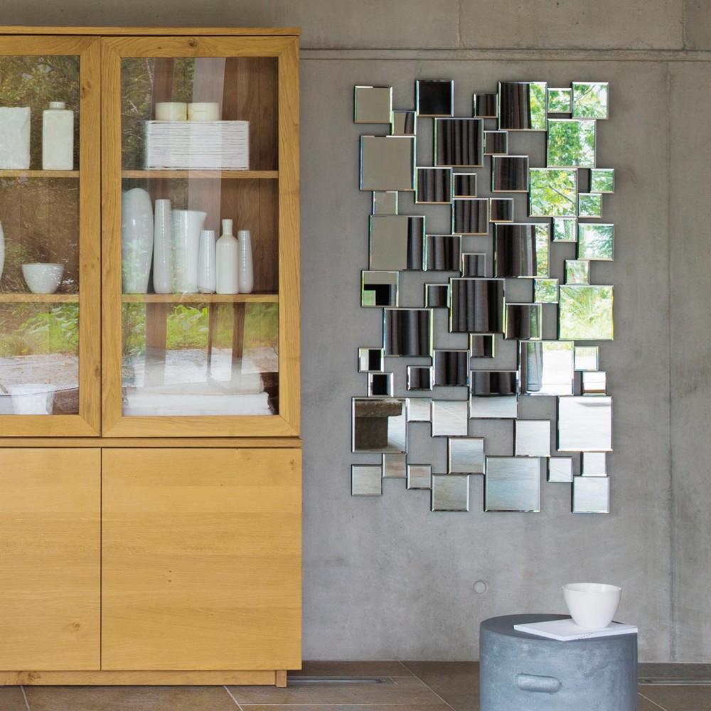 Metalen collision spiegel h 85 cm maisons du monde - Metalen spiegel ...