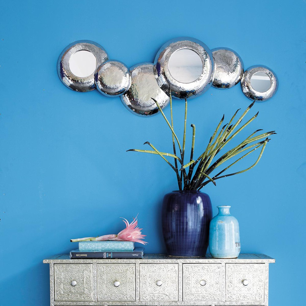 Metalen evros spiegel h 40 cm maisons du monde - Metalen spiegel ...