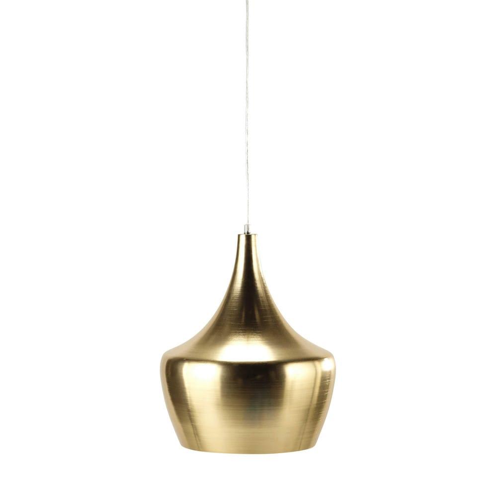 metalen hanglamp goudkleurig diameter 29 cm sweet forest maisons du monde. Black Bedroom Furniture Sets. Home Design Ideas