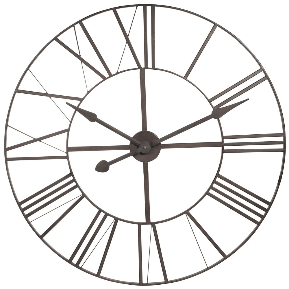 metalen klok diameter 80 cm brady horloge maisons du monde