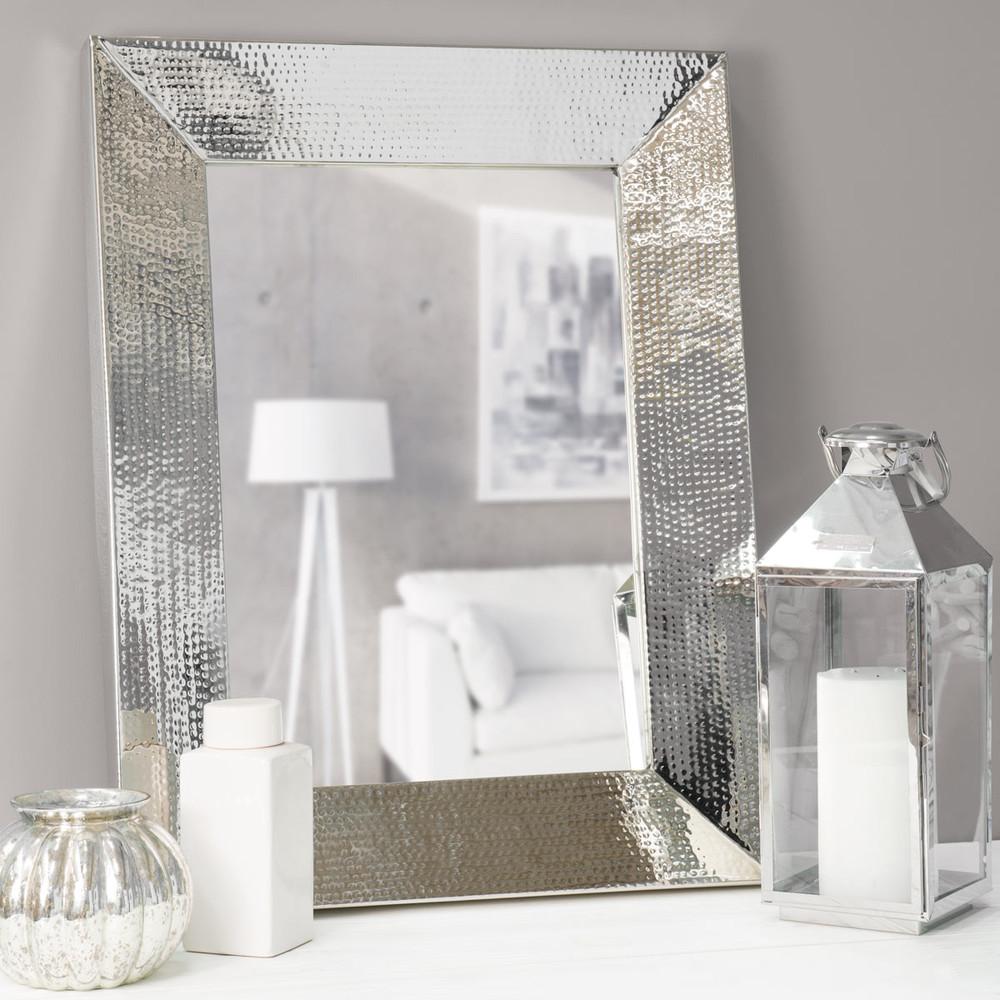 Metalen spiegel kilkis maisons du monde - Moderne entree decoratie ...