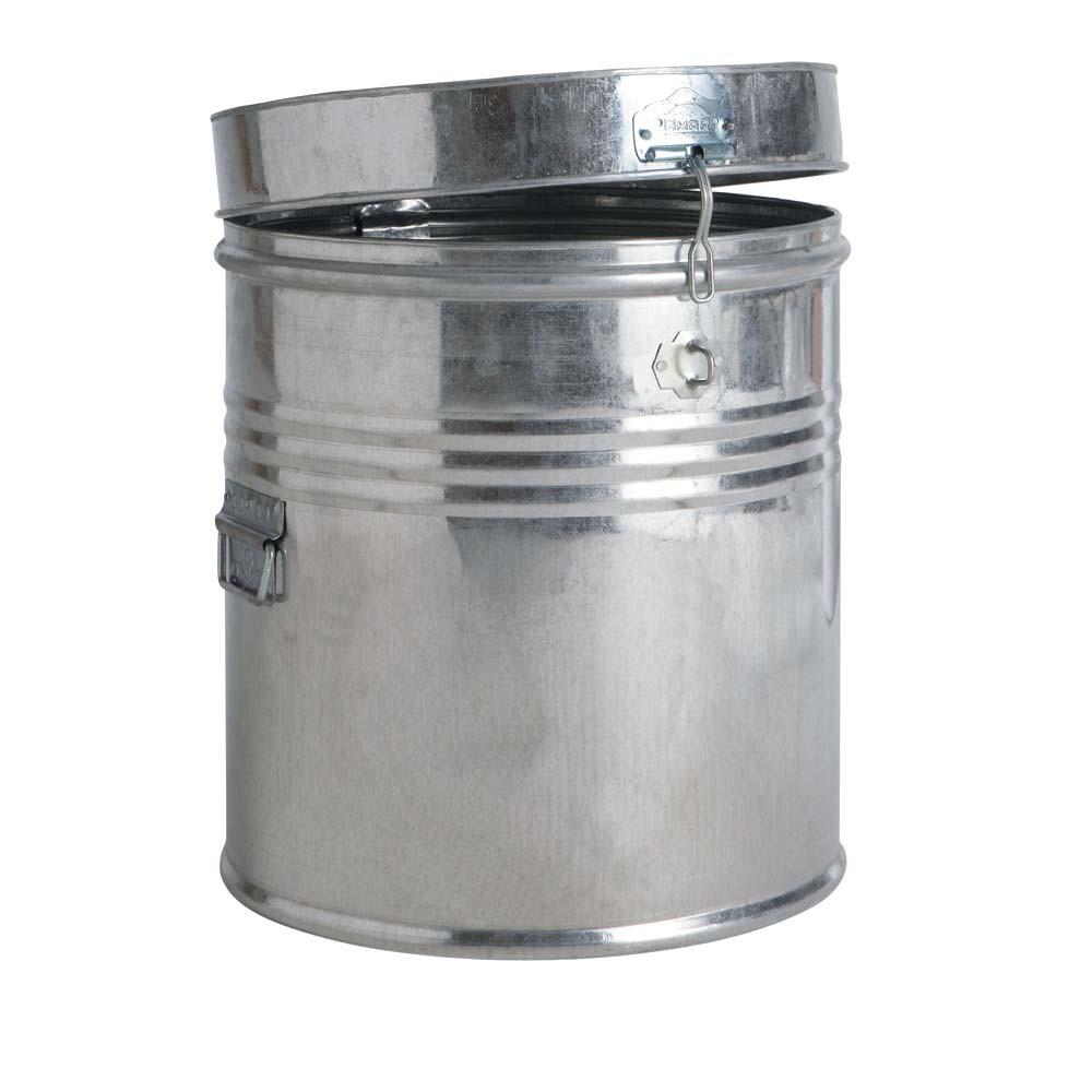 ... met deze design vuilnisbak deze originele metalen vuilnisbak doet
