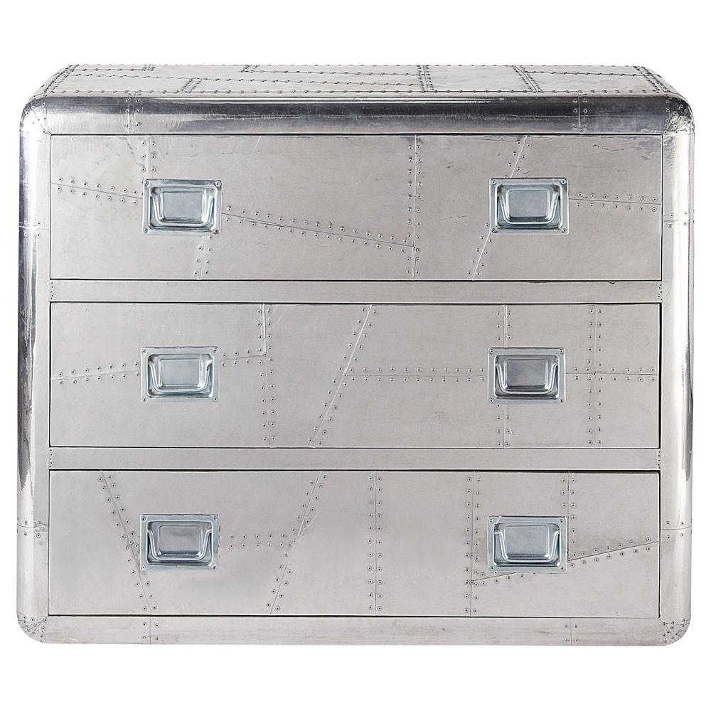 metallkommode b 105 cm silbern concorde concorde maisons du monde. Black Bedroom Furniture Sets. Home Design Ideas