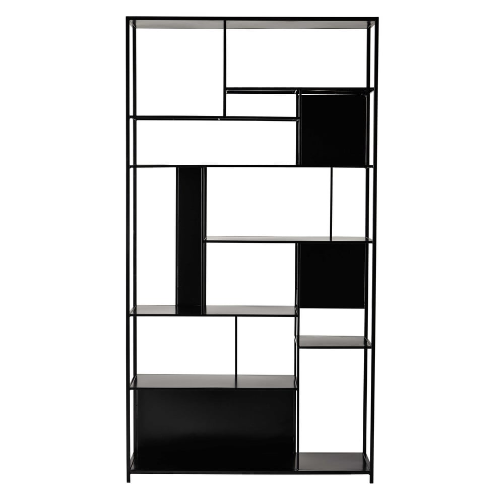 metallregal b 107 cm schwarz simply maisons du monde. Black Bedroom Furniture Sets. Home Design Ideas