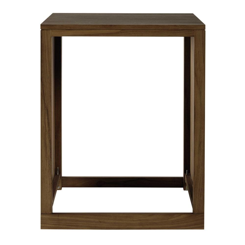 meuble bas de cuisine en teck massif pour lave vaisselle l. Black Bedroom Furniture Sets. Home Design Ideas