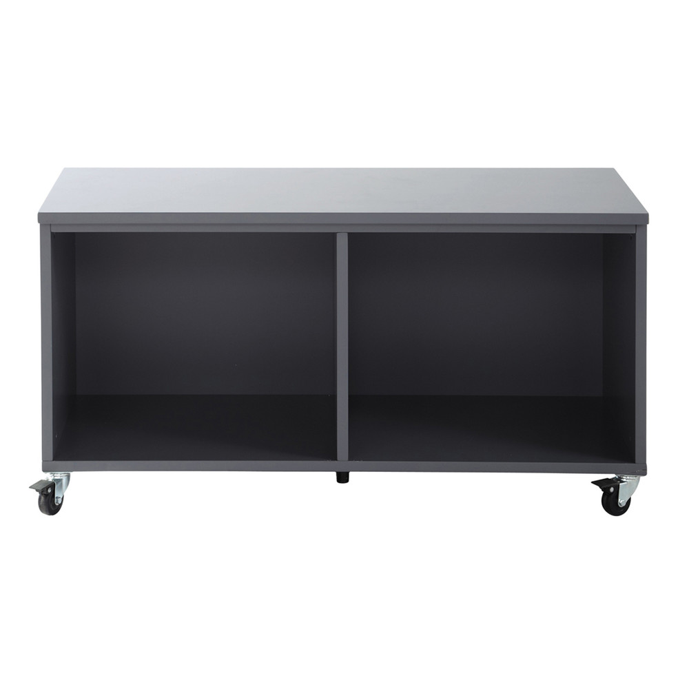 meuble de rangement roulettes en bois gris l 98 cm tonic maisons du monde. Black Bedroom Furniture Sets. Home Design Ideas
