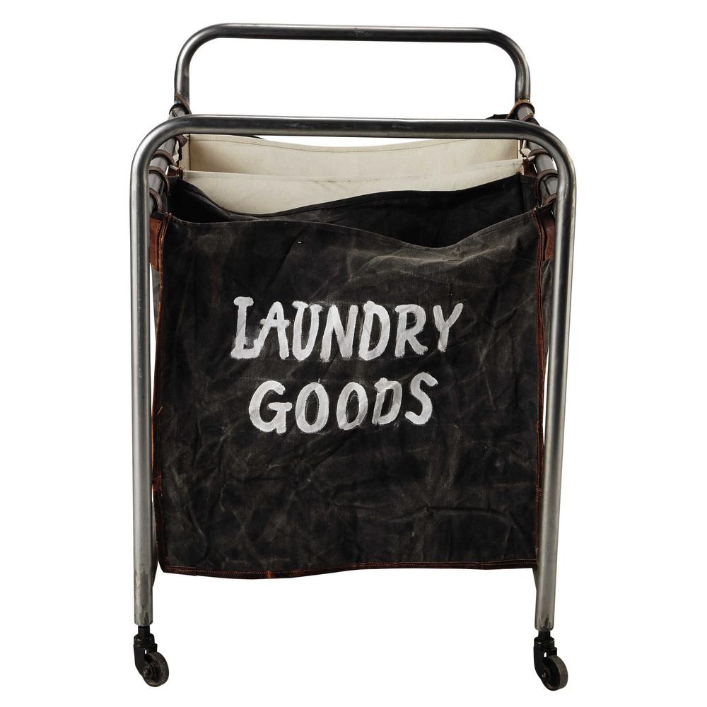 meuble de rangement en m tal l 81 cm laundry maisons du monde. Black Bedroom Furniture Sets. Home Design Ideas