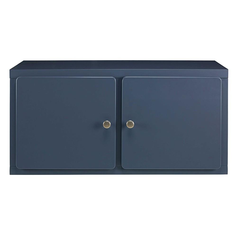 Meuble haut de cuisine 2 portes bleu grisé Thelma | Maisons du Monde