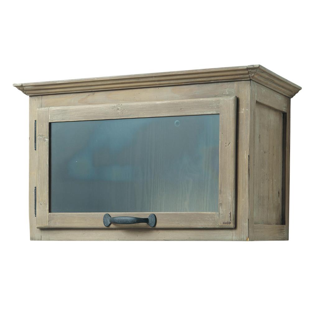 Meuble haut de cuisine ouverture droite en bois recycl l for Meuble cuisine horizontal