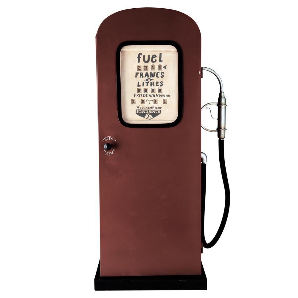 Meuble pompe essence en m tal rouge h 126 cm californie for Maison du monde 4x sans frais
