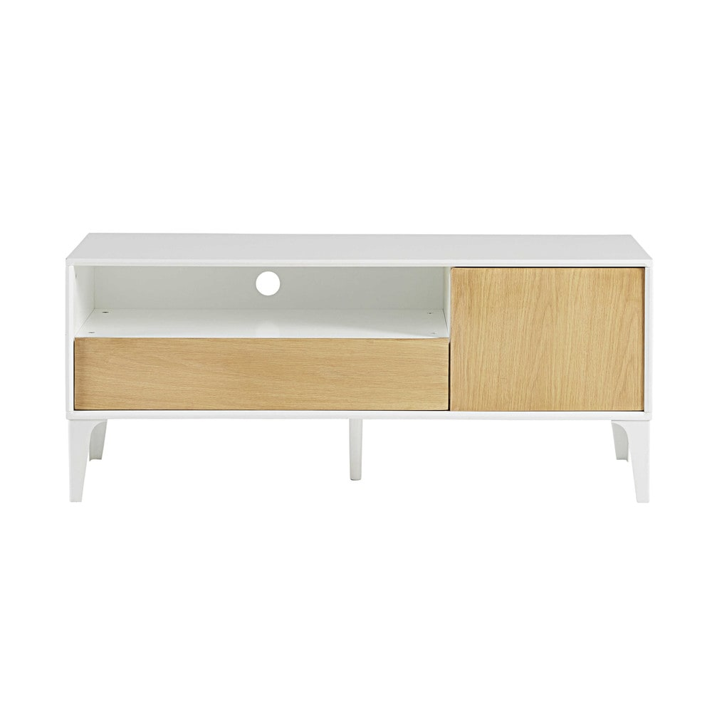 Meuble tv 1 porte 1 tiroir kara maisons du monde for Meuble tiroir porte