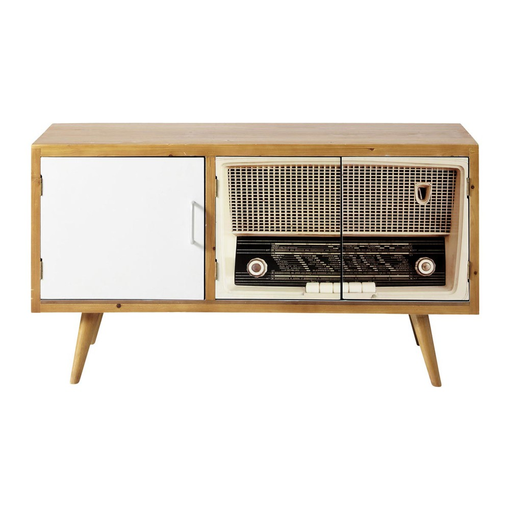 Meuble tv vintage fifty 39 s maisons du monde for Meuble salon retro