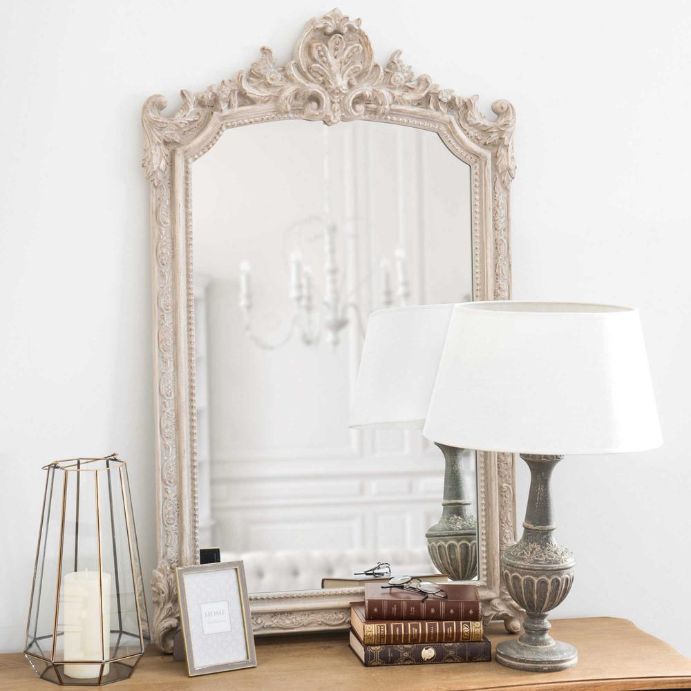 Miroir moulures gris 65x105cm eileen maisons du monde for Miroir moulure