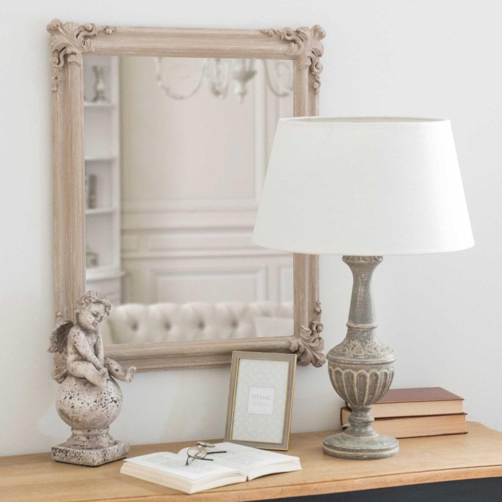Miroir moulures gris vieilli 50x60cm luann maisons du for Miroirs rectangulaires