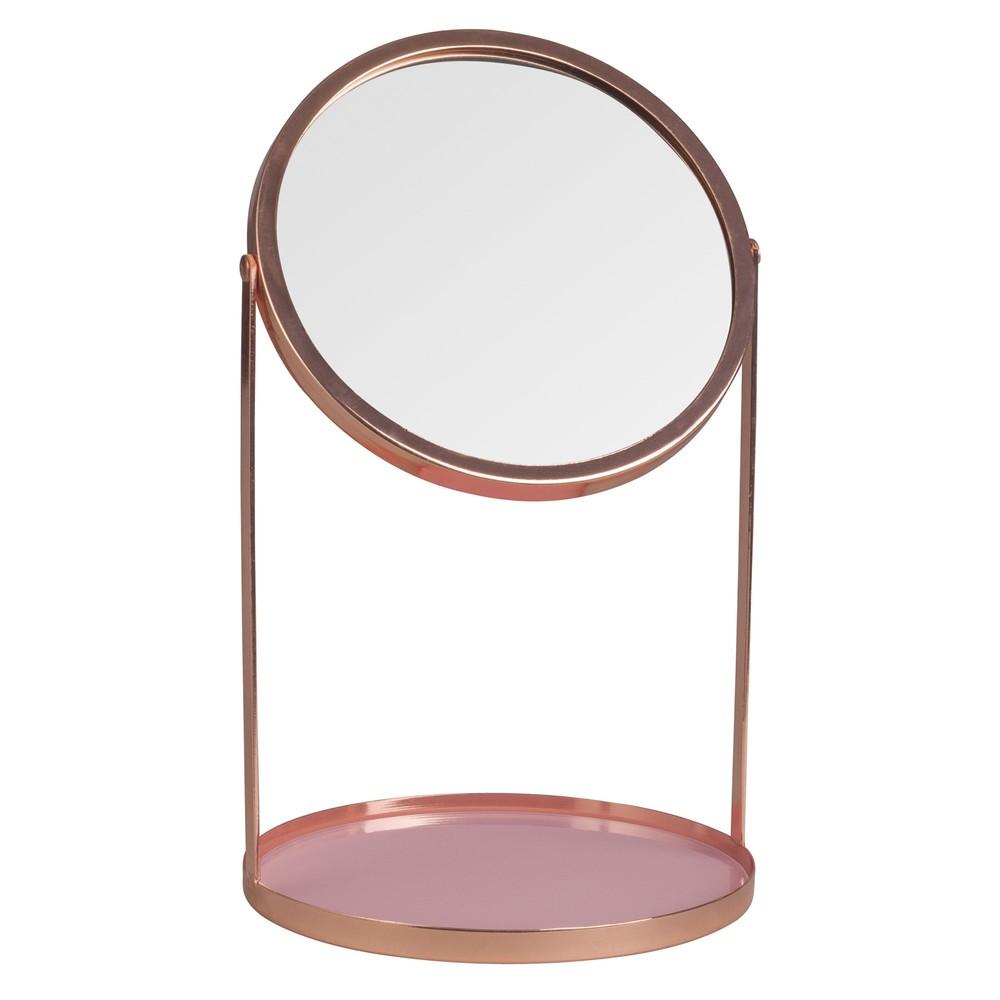 Miroir poser en m tal cuivr 17x29 maisons du monde for Miroir cuivre