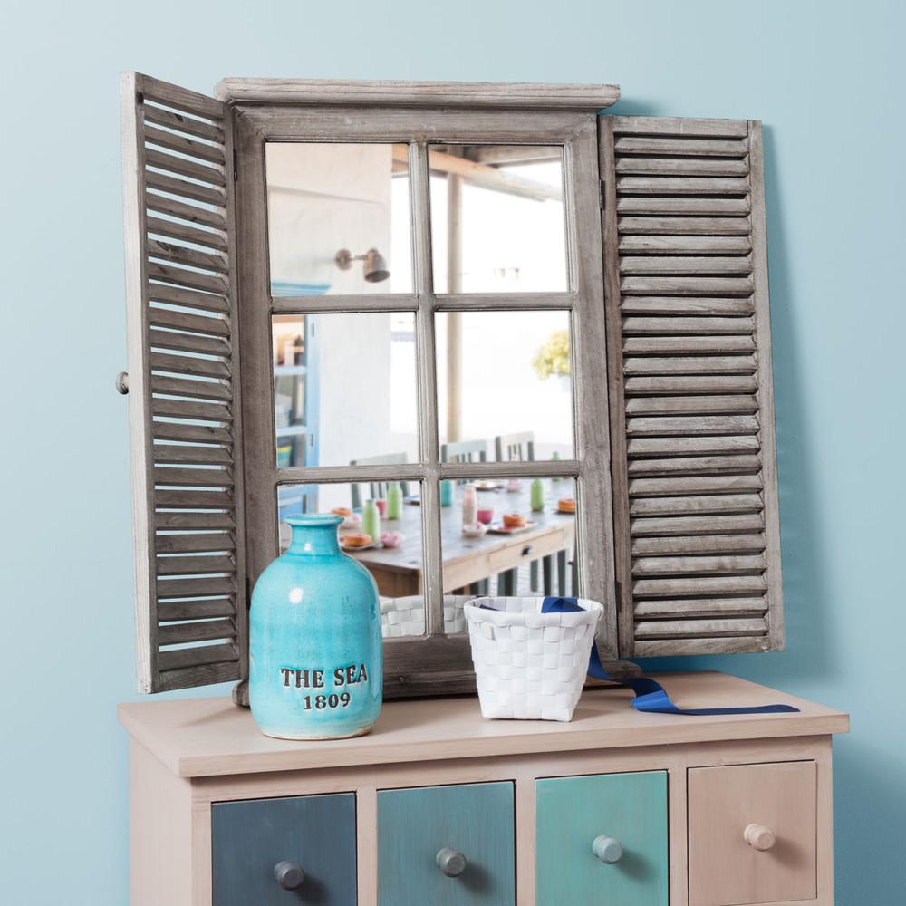 miroir avec volets rabattables h 71 cm constance maisons. Black Bedroom Furniture Sets. Home Design Ideas