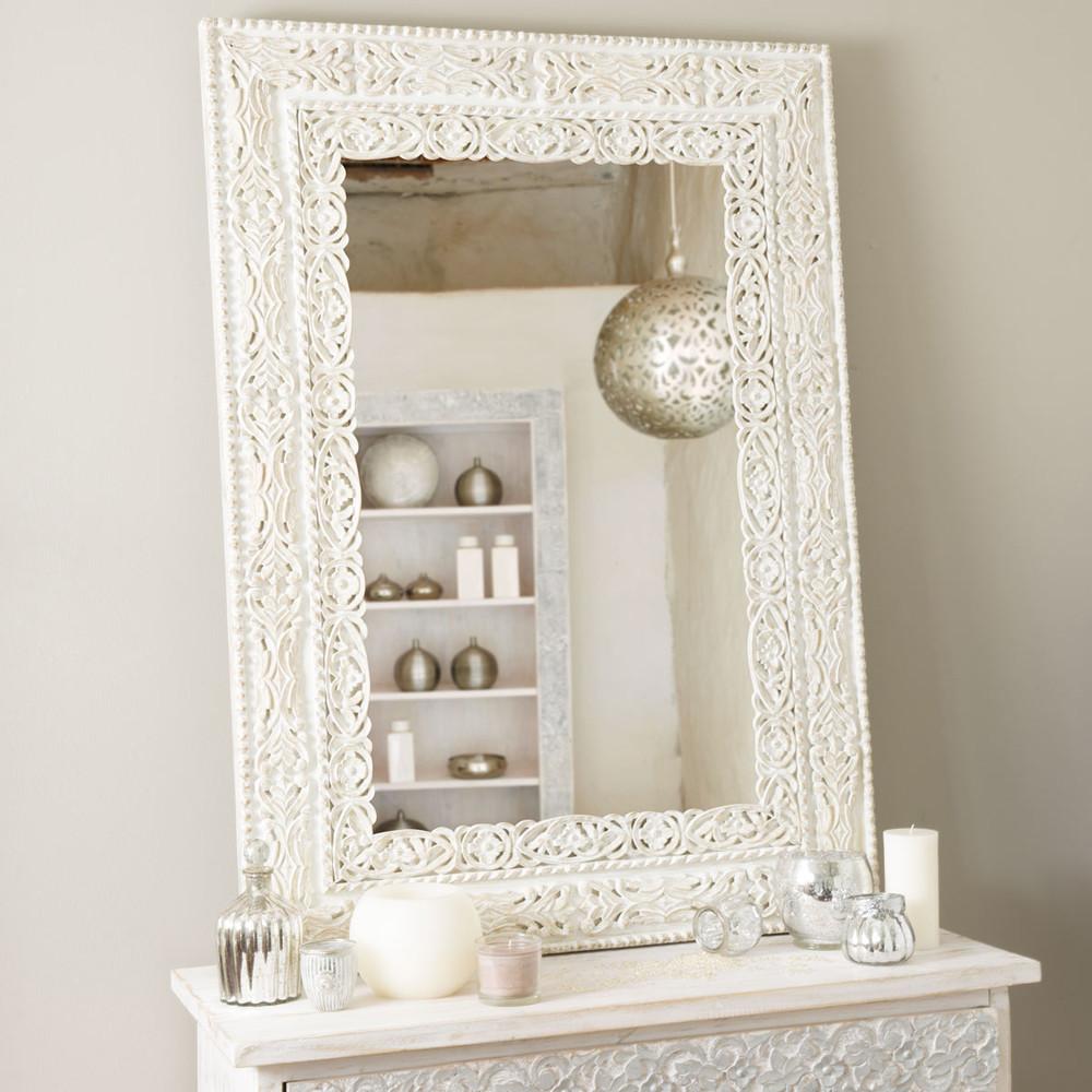 Miroir bhopal blanc maisons du monde - Espejos la maison du monde ...