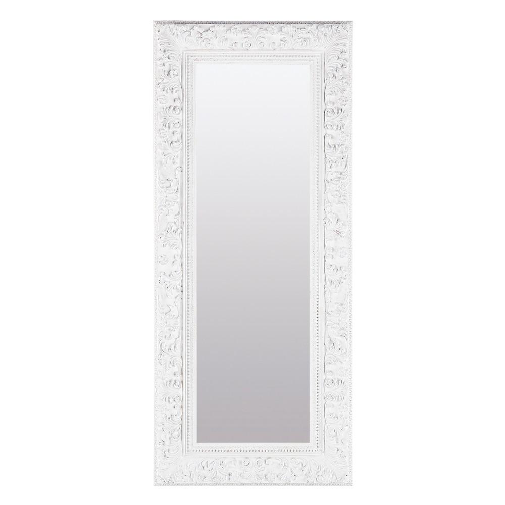 Miroir blanc ali nor 130x56 maisons du monde for Miroir blanc