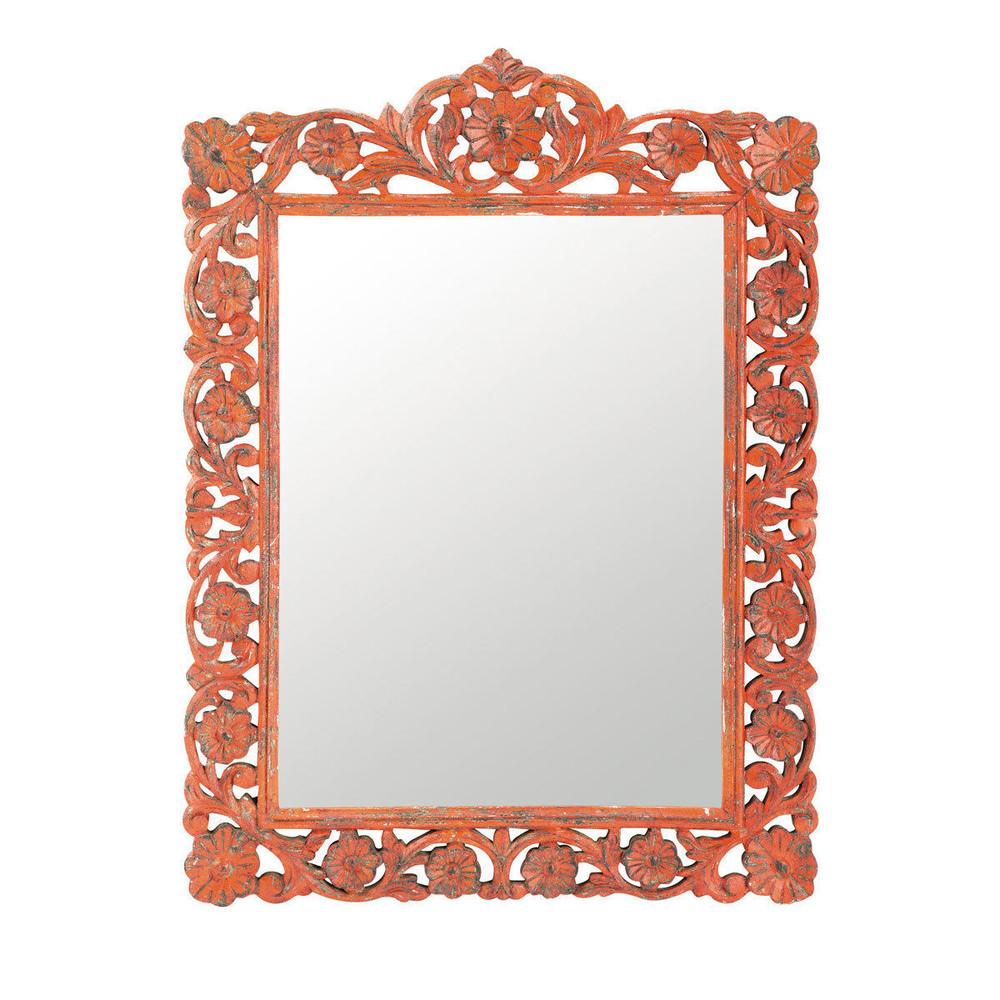 Miroir bois sculpt ambud maisons du monde for Miroirs rectangulaires