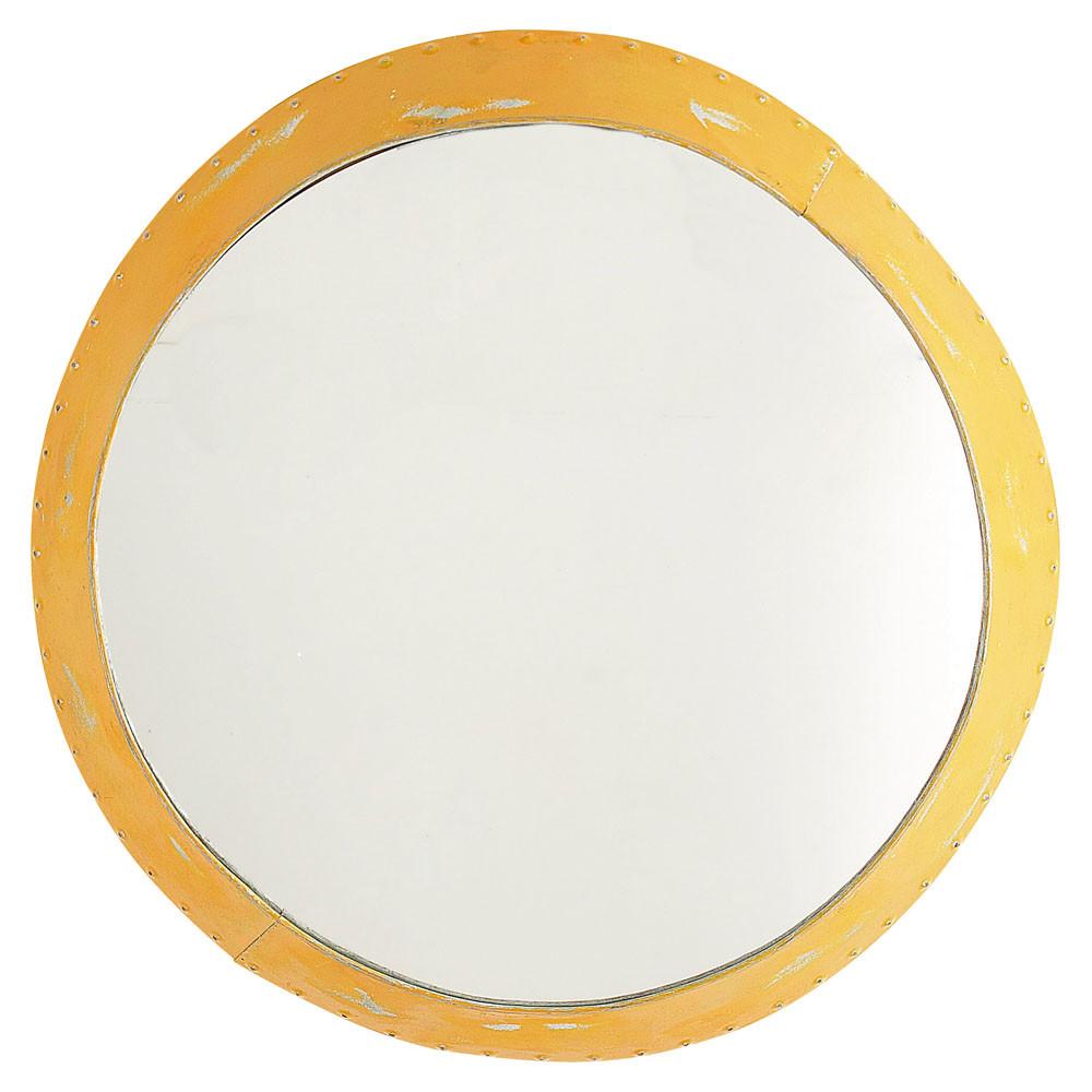 Miroir cabine jaune maisons du monde for Miroir jaune