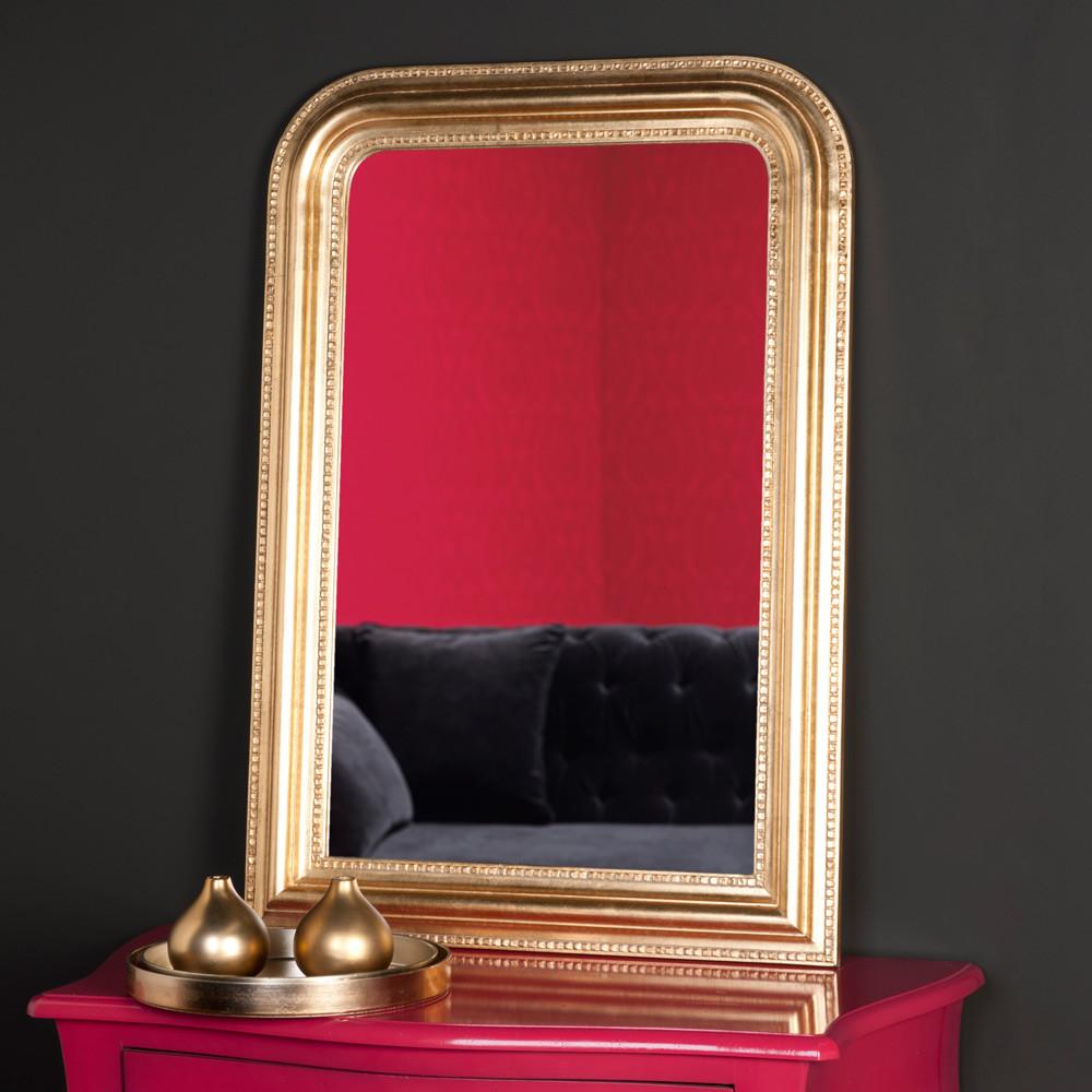 Miroir c leste or 95x65 maisons du monde for Maison du monde miroir