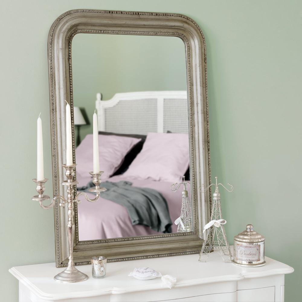 miroir champagne en bois de paulownia dor h 97 cm c leste. Black Bedroom Furniture Sets. Home Design Ideas