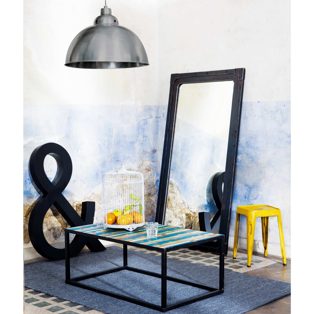 miroir effet m tal h 167 cm gustave maisons du monde. Black Bedroom Furniture Sets. Home Design Ideas