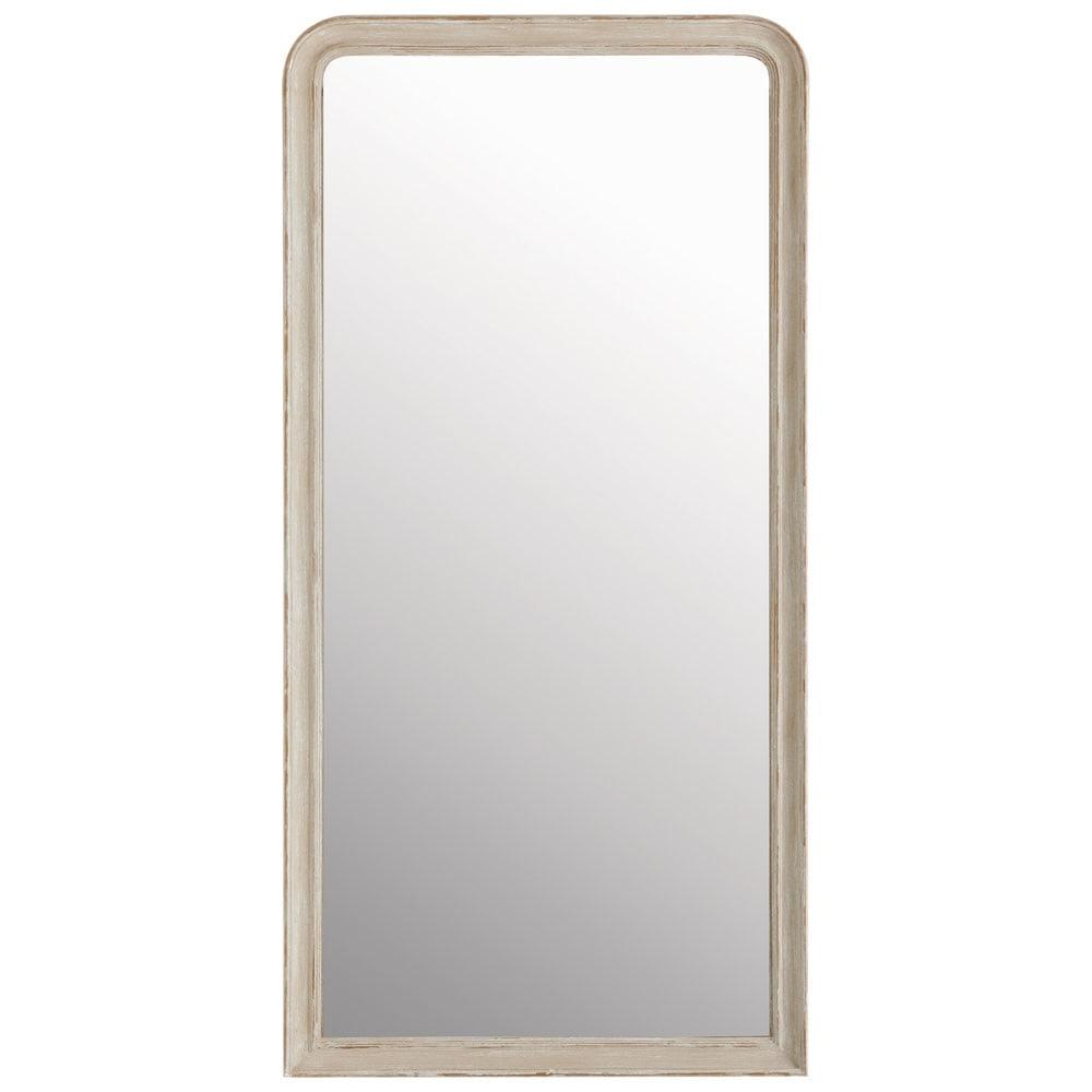 Miroir elianne arrondi beige 180x90 maisons du monde for Miroir arrondi