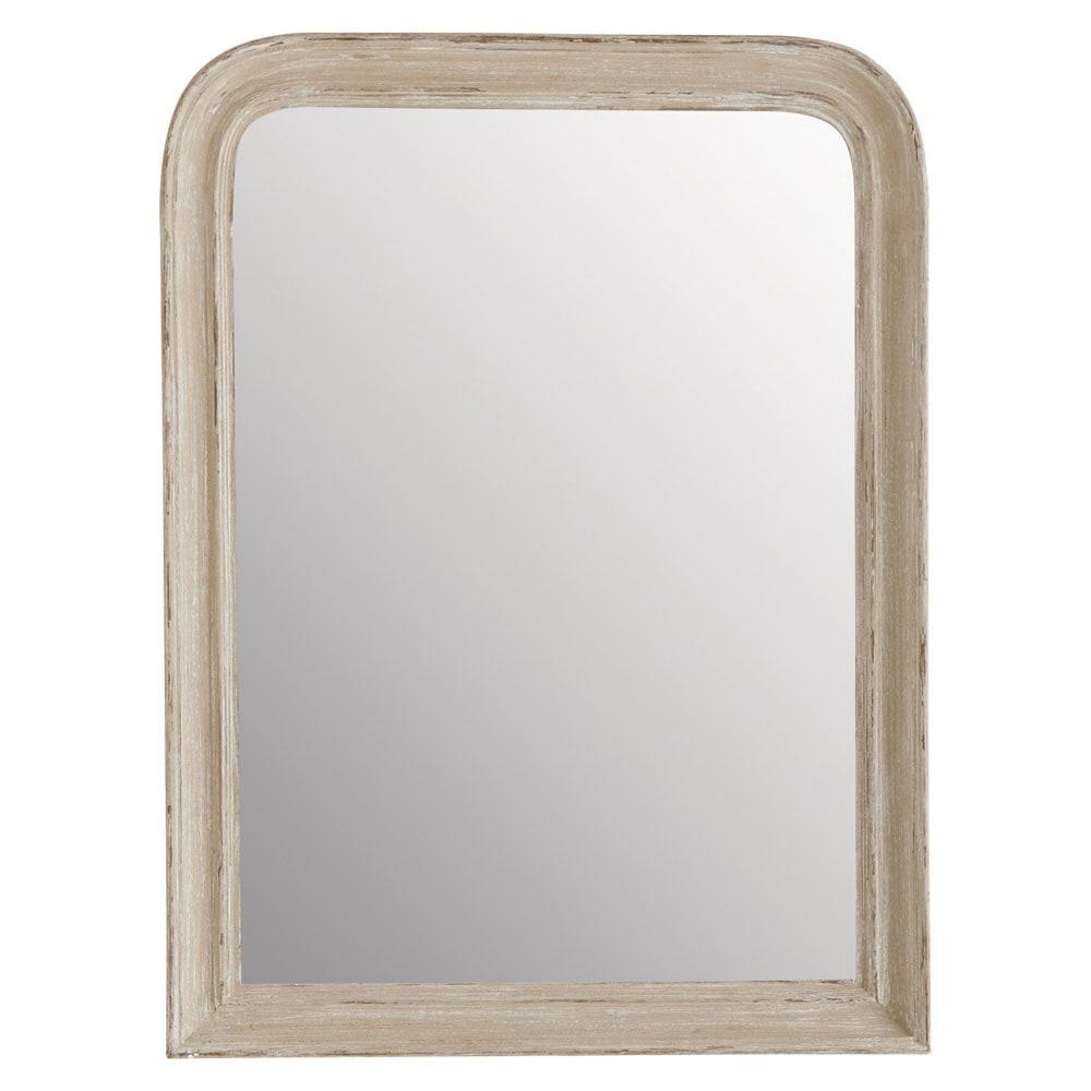 Miroir elianne arrondi beige 60x80 maisons du monde for Miroir arrondi