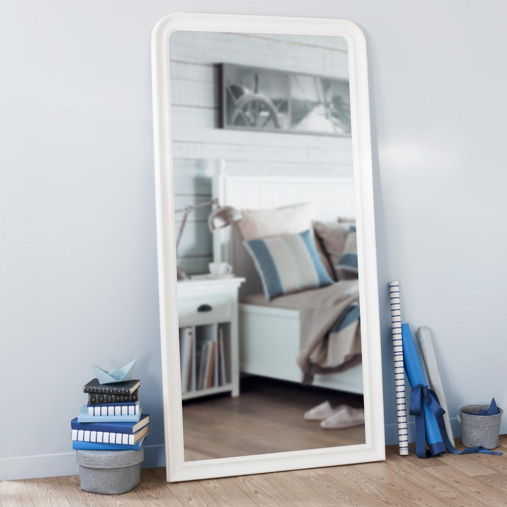 Miroir elianne arrondi blanc 180x90 maisons du monde for Miroir 180x90