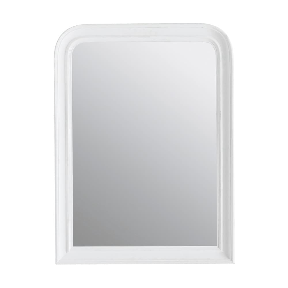 miroir elianne arrondi blanc 60x80 maisons du monde