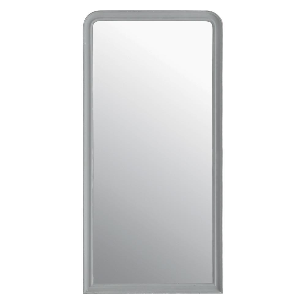 Miroir elianne arrondi gris 90x180 maisons du monde for Miroir arrondi