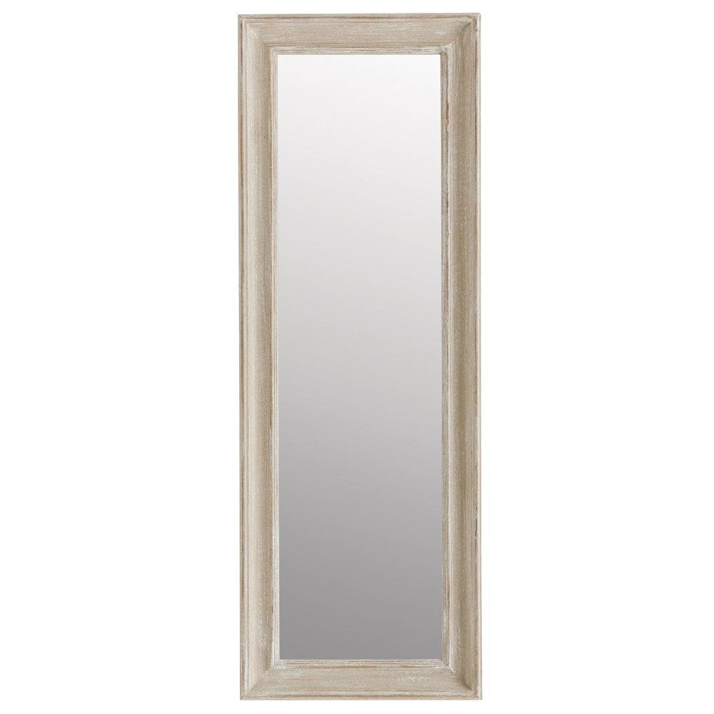 Miroir elianne beige 124x44 maisons du monde for Miroir 90x120