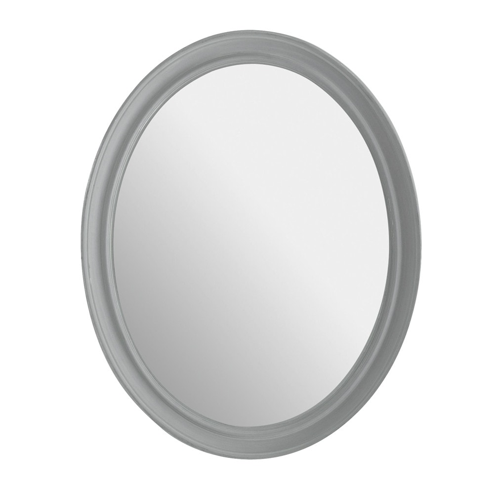 miroir elianne ovale gris maisons du monde. Black Bedroom Furniture Sets. Home Design Ideas
