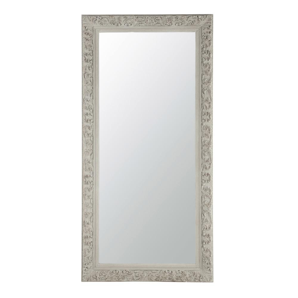 miroir en bois beige gris h 180 cm ali nor maisons du monde
