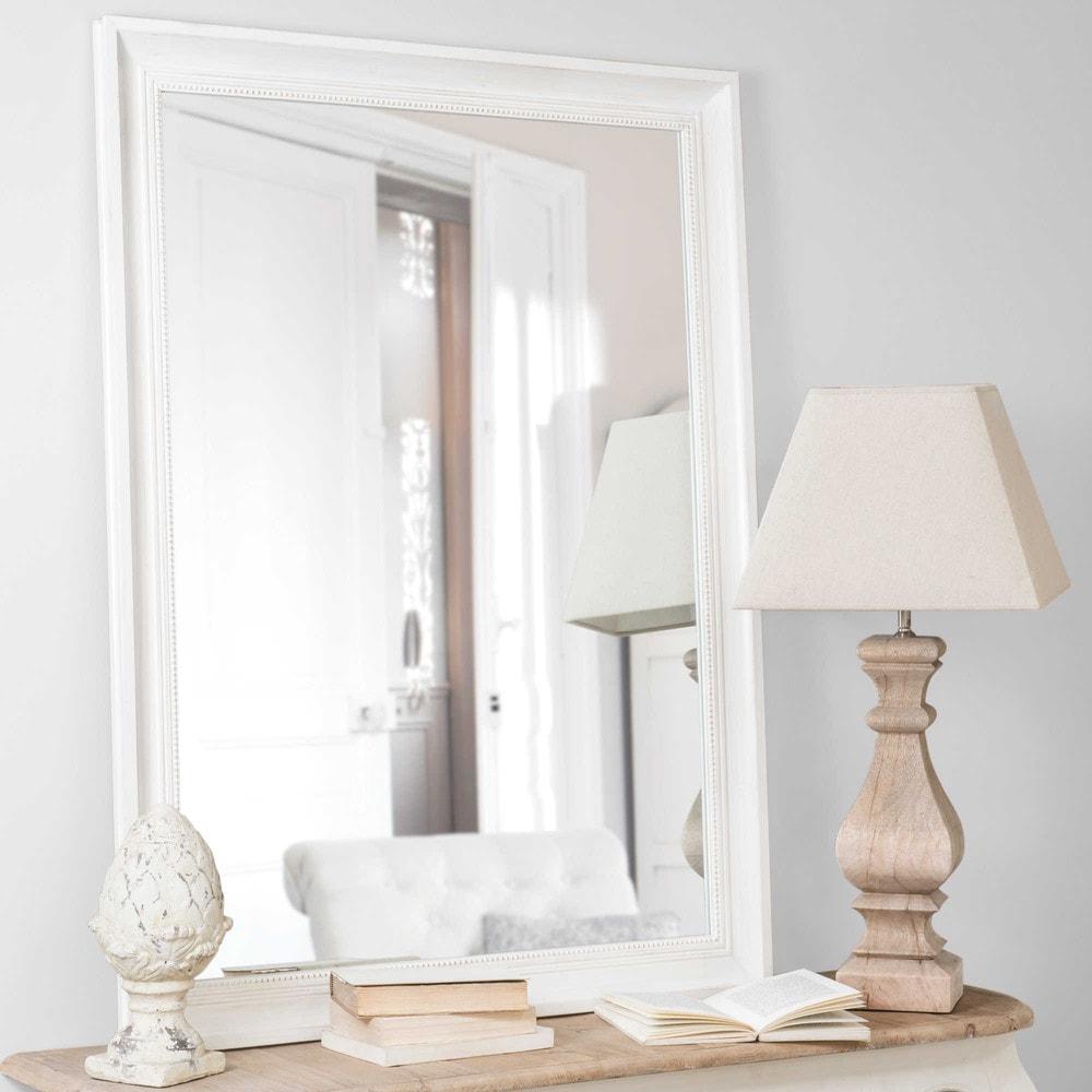 Miroir en bois cru h 120 cm honor maisons du monde for Miroir maison
