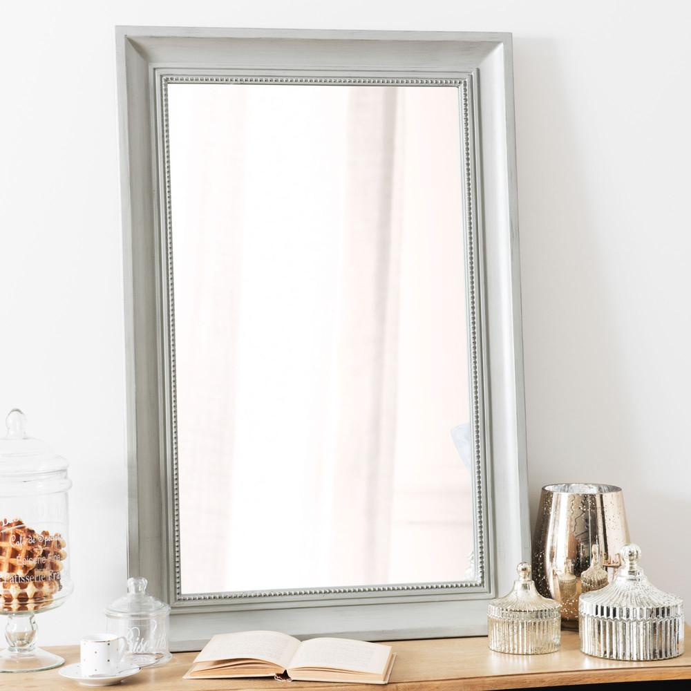 miroir en bois gris h 90 cm honor maisons du monde