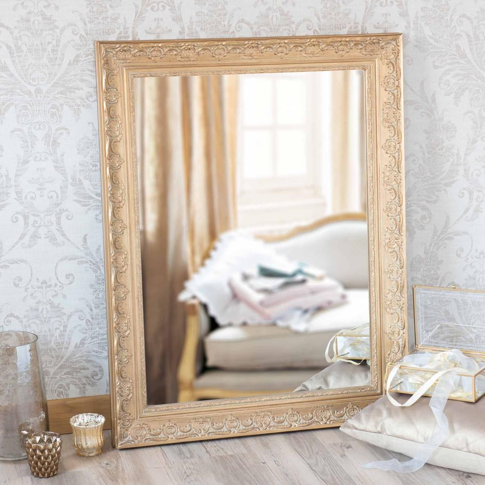 miroir en bois h 100 cm fontenoy maisons du monde. Black Bedroom Furniture Sets. Home Design Ideas