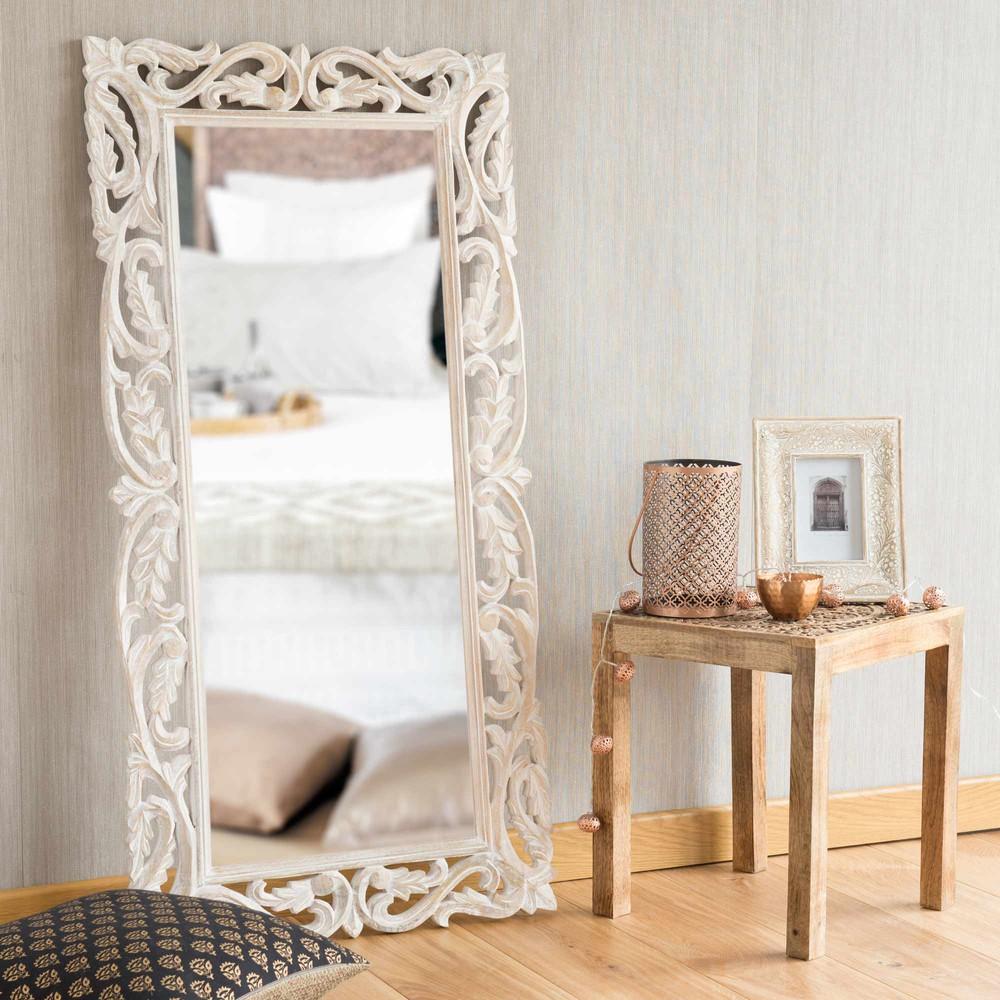 Miroir Bois Maison Du Monde : ? Miroirs rectangulaires ? Miroir en bois H 116 cm LOUISE