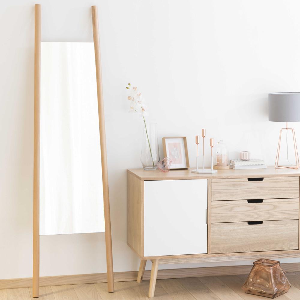 miroir en bois h 180 cm eriksen maisons du monde