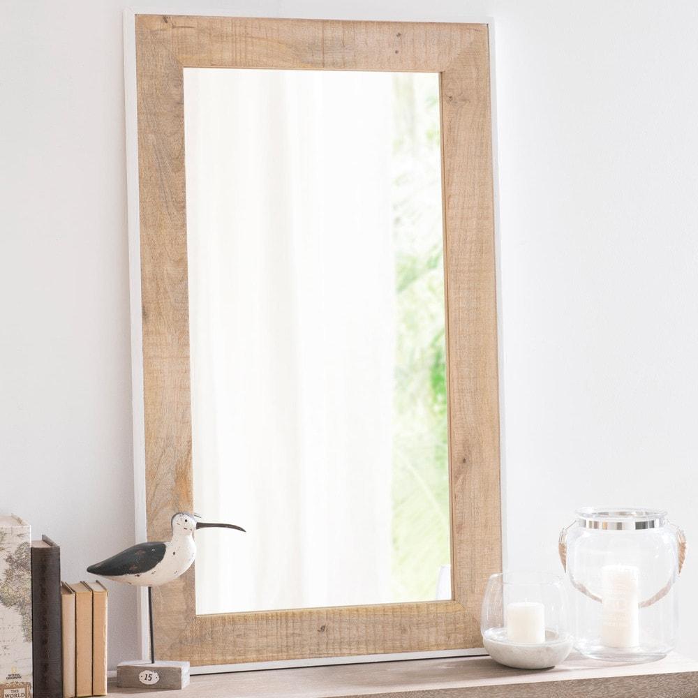 Miroir en bois h 71 cm toronto maisons du monde for Le miroir 71