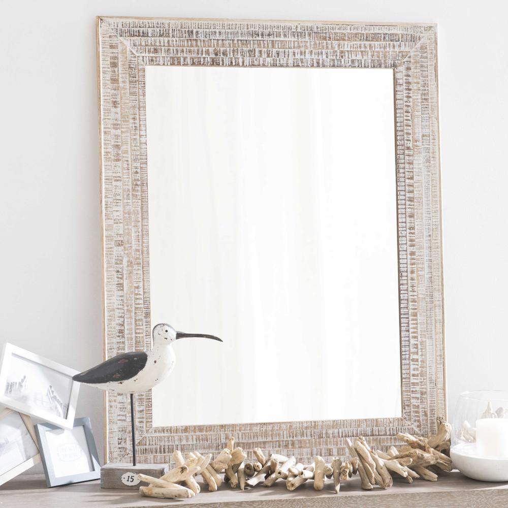 Miroir en manguier h 90 cm oregon maisons du monde for Miroir 90 cm